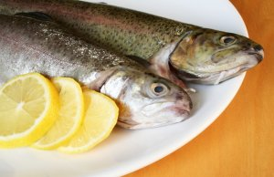 Sprat fish with lemonPhoto by: (c) Orson www.fotosearch.com